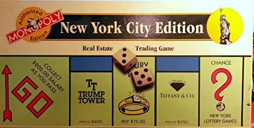 1995 New York City Monopoly Game (Authorized Edition) by Monopoly