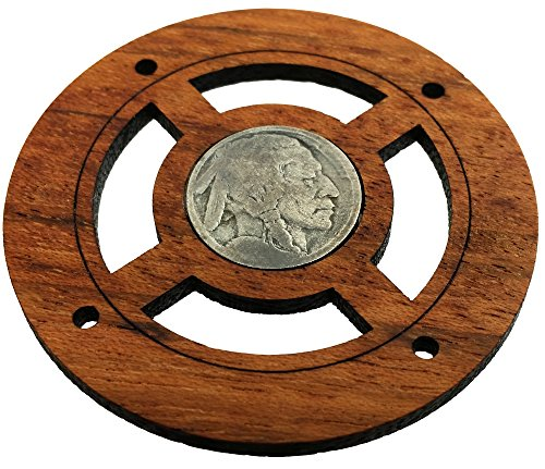 'Buffalo Nickel' (Front Side) Vintage Coin Sound Hole Cover for Cigar Box Guitars