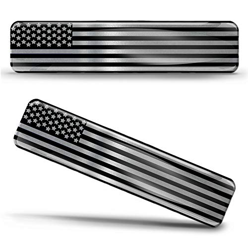 Biomar Labs® 2 x Aufkleber 3D Gel Silikon Silber Stickers Vereinigte Staaten Amerika America USA Flag Flagge Fahne Autoaufkleber F 128