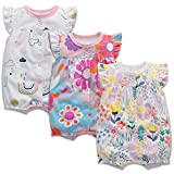 Baby-Strampler aus Baumwolle, für Jungen und Mädchen, 3er-Pack, kurzärmelig, bedruckt, 3-24 Monate Gr. 74, 02