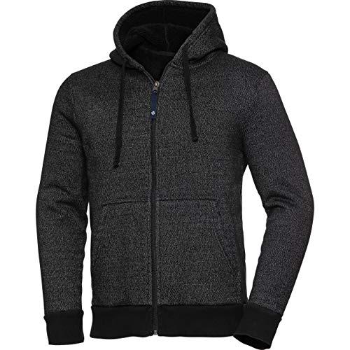 DXR 1.0 - Chaqueta de punto para hombre, estilo casual, para todo el año, textil Negro XXXL