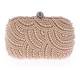 Sacchetti di sera bianchi della borsa del diamante della catena del diamante delle borse delle donne della borsa della perla di lusso fatte a mano di 100% champagne
