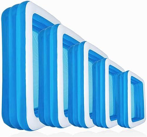 Treslin Piscine Gonflable à 3 Anneaux pour Enfants , piscines Multi-spécifications pour Enfants , @ 305x183x56cm