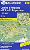 By Tabacco Casa Editrice Cortina d'Ampezzo 03 GPS Dolomiti Ampezzane (CARTES TOPOGRAHIQ - 1/25.000) Map - June 2013