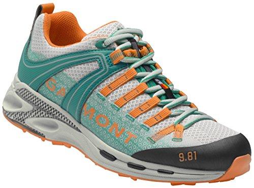 Garmont , Chaussures de randonnée Basses pour Femme Gris Grau-grün-Orange 7 B(M)
