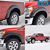 EAG Front and Rear Fender Flares 4pcs Textured Black Pocket Rivet Style Fit for 11-16 Ford Super Duty F250/F350
