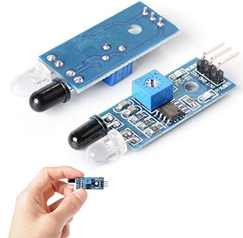 TecnoStore® SENSORE IR INFRAROSSO MODULO arduino Movimento Infrared Obstacle Sensor Robot CS