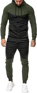 Sport Suit Tracksuit Mens Autumn Splicing Zipper Print Sweatshirt Top Pants Sets