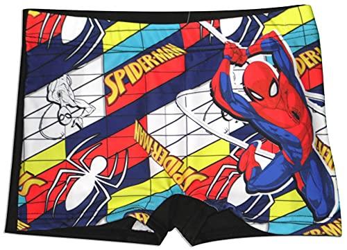 Marvel Spiderman - Bañador para niño, Negro, 8-9 Años