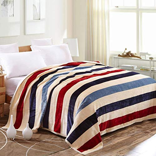 aihihe Sherpa Fleece Flannel Blanket Throw Plush Fuzzy Soft Microfiber Velvet Bed As Bedspread/Coverlet/Bed Sofa Cover Twin Size(#08 Stripe,40×60 inch)