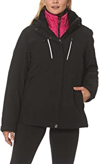 Ladies 3-in-1 Systems Jacket Black/Pink;M