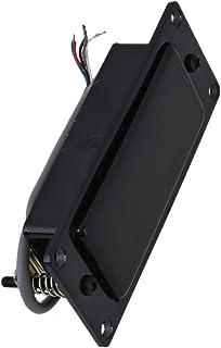yibuy Pastilla humbucker de aleaci¨®n de zinc para guitarra, 92 x 37 mm, para mini guitarra, guitarra el¨¦ctrica, negro