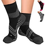 TechWare PRO Plantar Fasciitis Sock  Therapy Grade Targeted Cushion Compression Socks Men & Women. Ankle Brace Foot Sleeve with Arch Support for Achilles Tendonitis & Heel Pain Relief 1 Pair