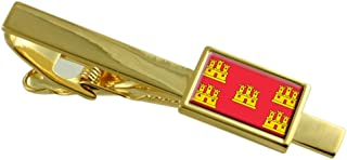 Select Gifts Poitou Charentes Province France Flag Gold-Tone Tie Clip