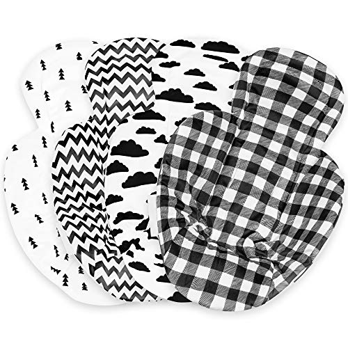 Infant Insert Compatible with 4Moms Mamaroo & Rockaroo – Car Seat Insert 2 Pack – Reversible Infant Car Seat Insert – Rockaroo & Mamaroo Newborn Insert – Soft Plush Minky Car Seat Head Support Insert