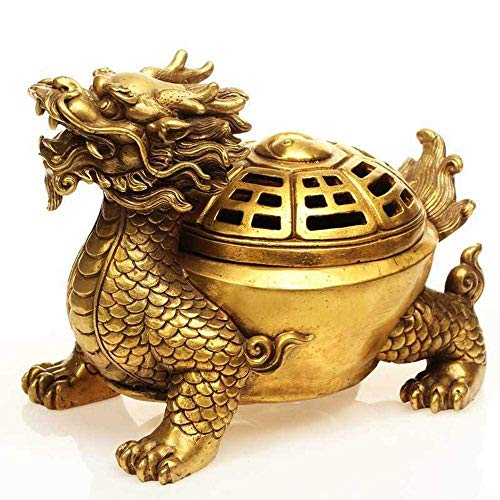 Find Discount LHBNH Burner Incense Burner Incense Burner Pure Copper Feng Shui Dragon Turtle Aromath...