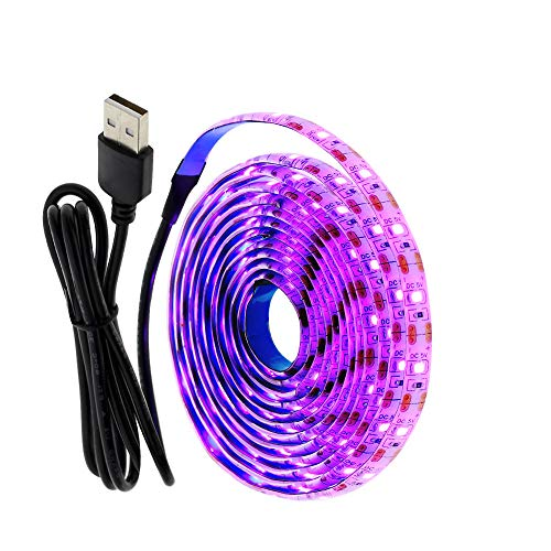 5V USB LED Strip Light 2835 RGB Diodenband 1M 2M Flexibles Neonband für TV Hintergrundbeleuchtung PC Bildschirm Hintergrundbeleuchtung Dekoration-Lila Nein Wasserdicht_0,5 m