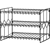 Can Storage Organizer Rack, 3-Tier Storage and Space Saving Pantry or Kitchen Solution, Black