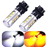 3157 3057 3357 4157 Turn Signal White Yellow Amber Switchback Led Light Bulbs 22 SMD with ...