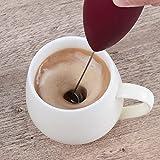 Espumador de leche de mano para hacer espuma con leche, batidor de bebidas para café, mini espumador para capuchino,...