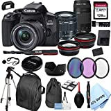 Canon EOS 850D (Rebel T8i)DSLR Camera with 18-55mm f/4-5.6 IS STM Zoom Lens + 75-300mm F/4-5.6 III Lens + 128GB Card, Filters, 2X Telephoto Lens, HD Wide Angle Lens, Hood, Lens Pouch, and More (28pcs)