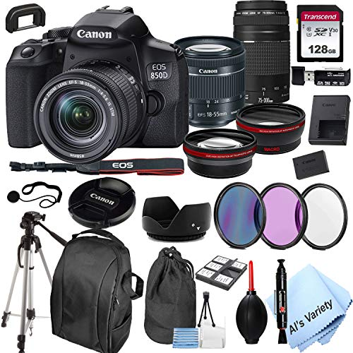 Canon EOS 850D (Rebel T8i)DSLR Camera with 18-55mm...
