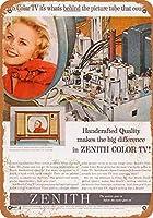 2個 20 * 30CMメタルサイン-1962カラーテレビ管 メタルプレート レトロ アメリカン ブリキ 看板
