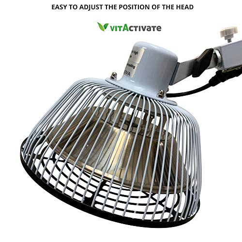 Best TDP Lamp - 3rd Generation VITA Activate Mineral Heat Lamp | Detachable Head | Better Protection Cap New Safety Head