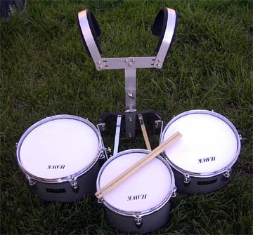 NEW SILVER COLOR MARCHING TRI-TOM DRUM 11'x 12'x 13'