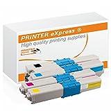 Printer-eXpress, set da 4 toner per stampanti OKI 46508712, 46508711, 46508710, 46508709,per OKI C332, C332DN, MC363, MC363DN, MC363N, C332, C332DN, MC363, MC363DN, MC363N