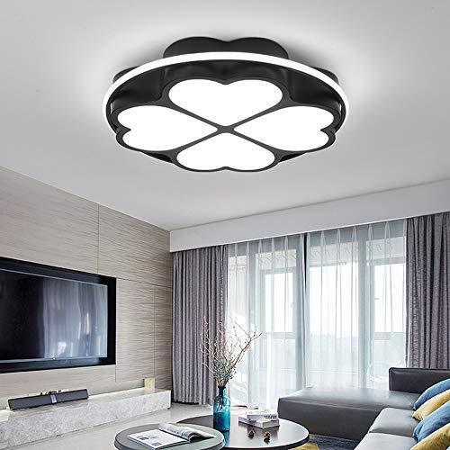 zmk Hierro Negro/Blanco Iluminación Simple Moderna LED Tricolor Redondeado Luz de decoración de habitación de Dormitorio
