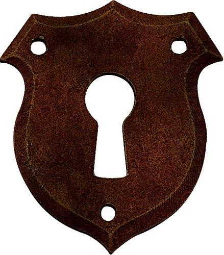 Schlüsselblatt Biedermeier Eisen rostig 46 x 40 - Qualität aus Europa seit 1998