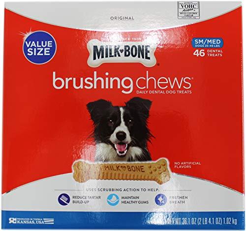 Milk-Bone Brushing Chews Daily Dental Treats, Small/Medium, 46 ct