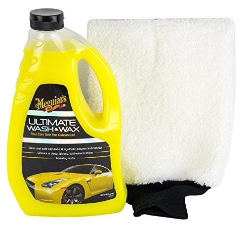 Meguiar's MEGUIARS Ultimate Wash & Wax Shampoo Autoshampoo & Waschhandschuh
