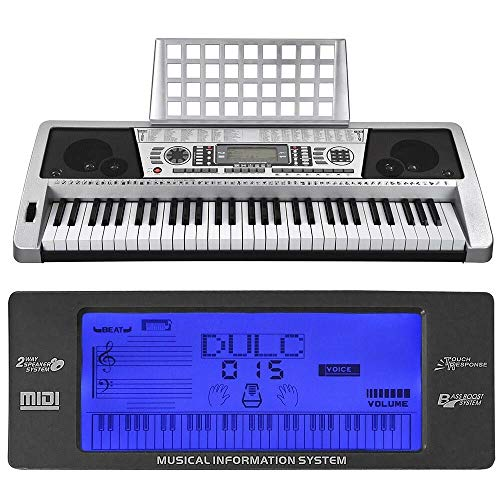 Lowest Prices! 61 Key Music Digital Keyboard Electric Piano LCD Organ Talent Practice Show Gift - EE...