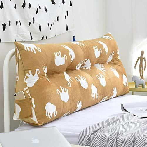 Cuscino da Lettura Reading Pillow Cuscino testiera materasso con cintola posteriore in vita Triangle Soft Pack Cuscino multifunzionale in vita, 4 colori, 5 taglie (misure: 60/70/90/100/120 * 20 * 50cm