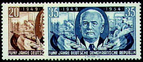 Goldhahn DDR Nr. 443-444 postfrisch ** 5 Jahre DDR Briefmarken für Sammler