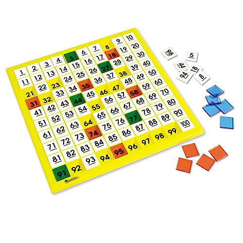 Learning Resources Hundred Number Board, Plastic