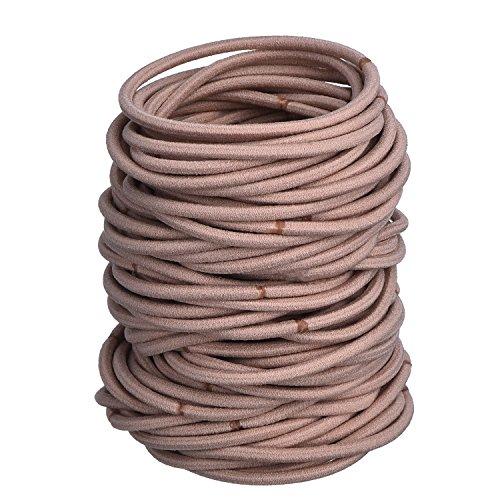 100Stück elastische Haargummis / Haarbänder / Pferdeschwanz-Halter, große Menge
