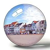 Frankreich Magnet Dünkirchen 3D Kühlschrank Magnete Souvenir Collection Reise Geschenk Kreis Kristall Kühlschrank Magnete