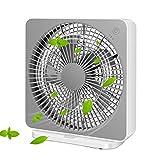 Elanket Box Fan, Three Speeds Window Table Cooling Fan 10 Inch DC Desk Fan with Plug-In AC Adapter, Strong Wind,Quiet Operation Work Fan for Home Bedroom Office Desk Outdoor Travel