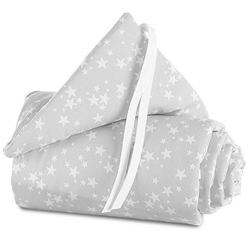 babybay Nestchen Piqué passend für Modell Original, perlgrau Sterne weiß