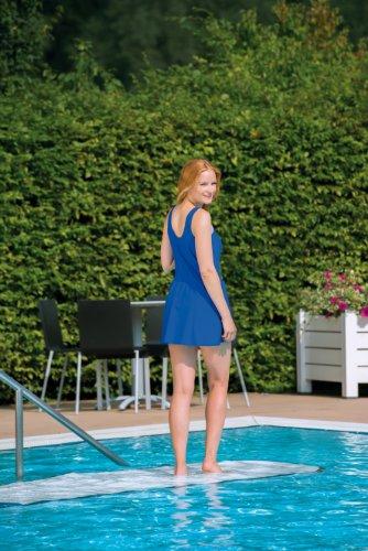 Suprima sportief badpak. 1-520-039 (voor dames), maat 44, lichtblauw