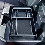 JKCOVER Center Console Organizer Tray Compatible with (2019-2021) Chevy Silverado 1500/GMC Sierra 1500 and 2020-2021 Silverado/Sierra 2500/3500 HD Accessories - Full Console w/Bucket Seats ONLY,BLACK