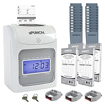 CALCULATING uPunch Time Clock Bundle with 200 Cards 3 Ribbons 2 Time Card Racks & 2 Keys  HN4500