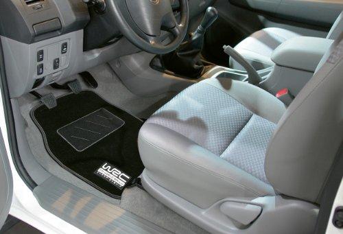 WRC - Kaufmann Neuheiten (New Products) WR-KFZ-434 4-Piece Rubber Car Mat Set in Black