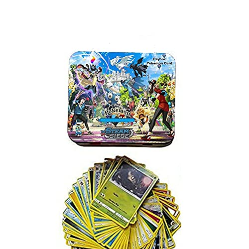 Paybox Poke-mon Cards Game STEAM & Siege with 2 Booster Packs and Cards for All Ages
