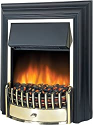 Dimplex freestanding fire with Optiflame effect. Cable Length is 1.7 meter Choice of two heat settings 1 KW - 2 KW Real coal fuel bed.Compatible with hearth pad accessories HPD001 Flame effect can be used independently of heat source Black finish wit...