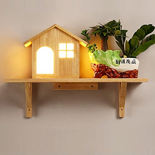 Salon chinois Nouveau_Feux d'allée simple led lumière allée salon chambre à coucher en bois créatifs chevet mural Lumière