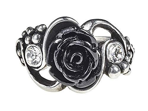 Alchemy Gothic Bacchanal Rose Ring Frauen Ring silberfarben M Hartzinn Gothic, Rockwear